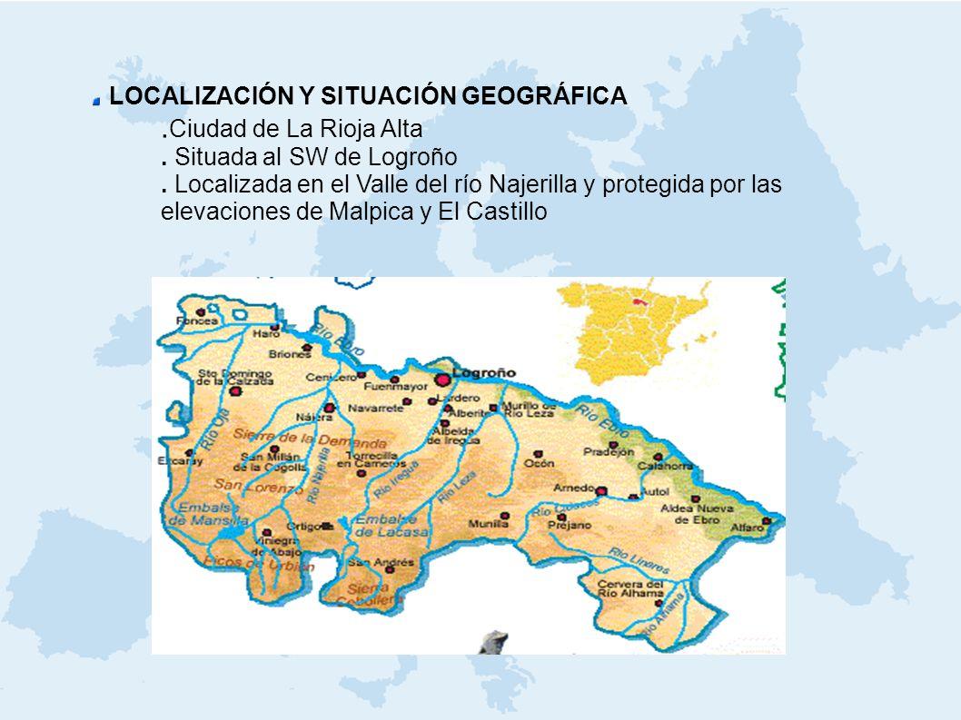 LOCALIZACIÓN Y SITUACIÓN GEOGRÁFICA .Ciudad de La Rioja Alta
