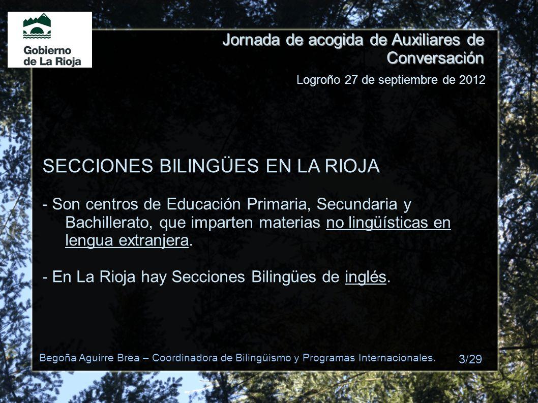 SECCIONES BILINGÜES EN LA RIOJA