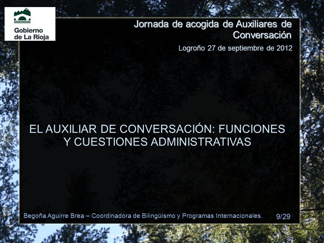 EL AUXILIAR DE CONVERSACIÓN: FUNCIONES Y CUESTIONES ADMINISTRATIVAS