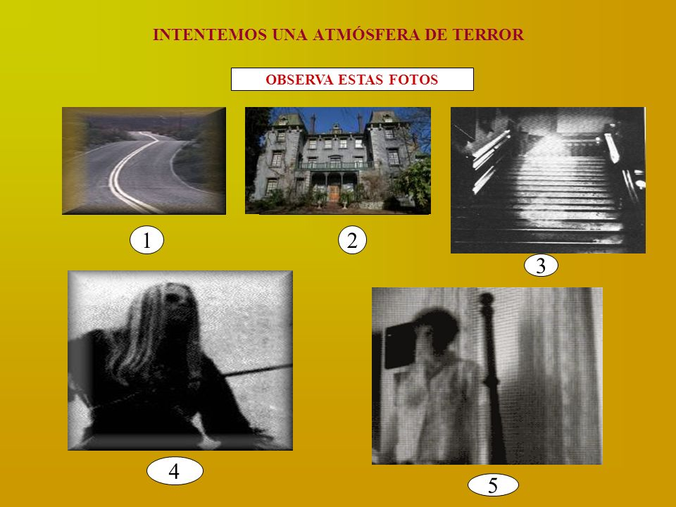 INTENTEMOS UNA ATMÓSFERA DE TERROR