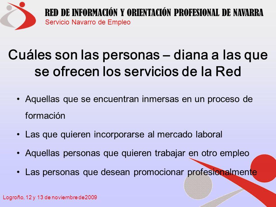 Cuáles son las personas – diana a las que se ofrecen los servicios de la Red