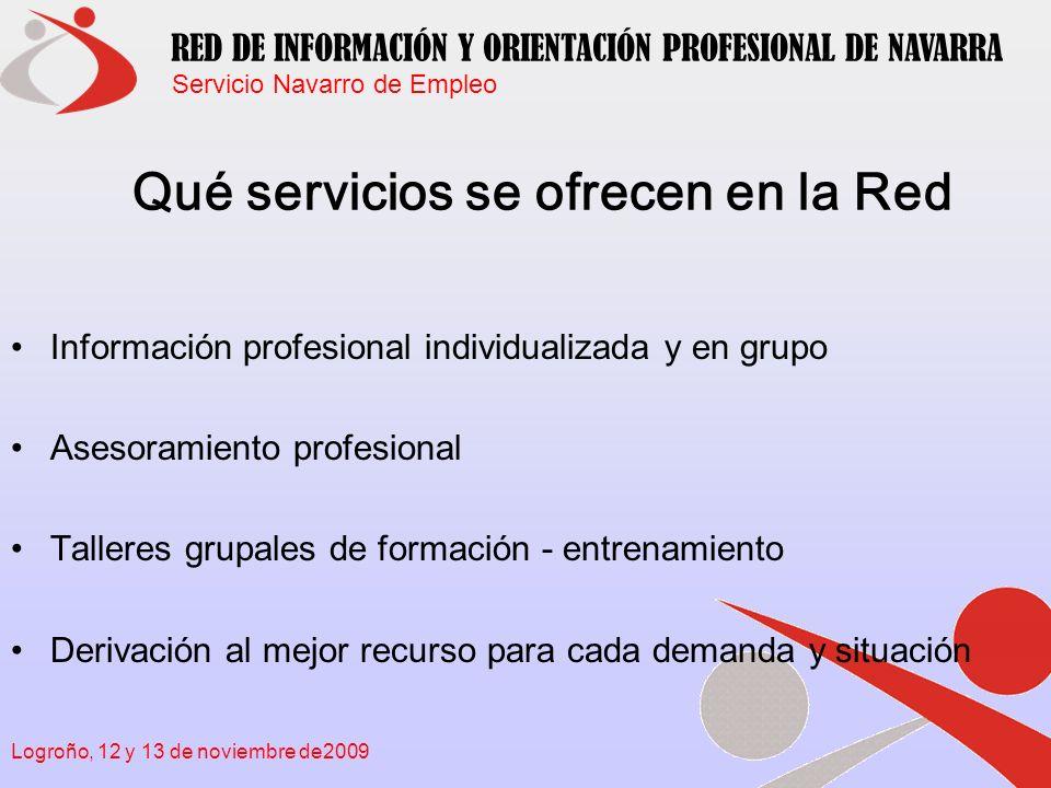 Qué servicios se ofrecen en la Red