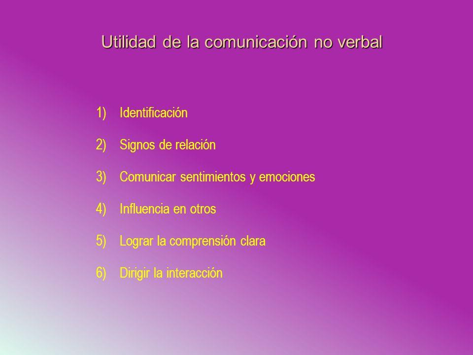 Utilidad de la comunicación no verbal