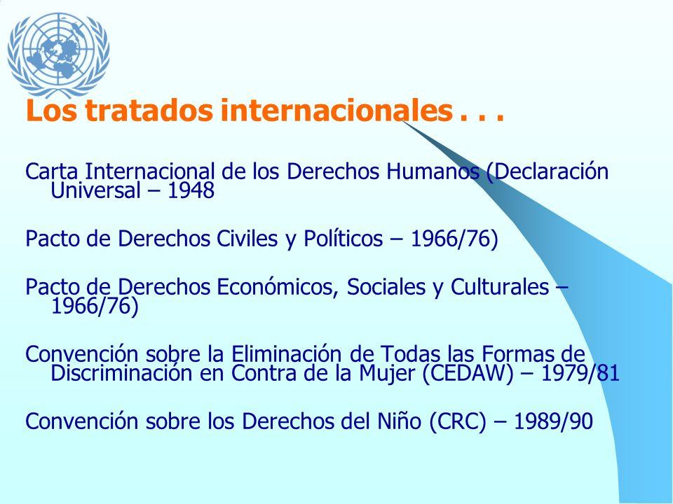 Los tratados internacionales . . .