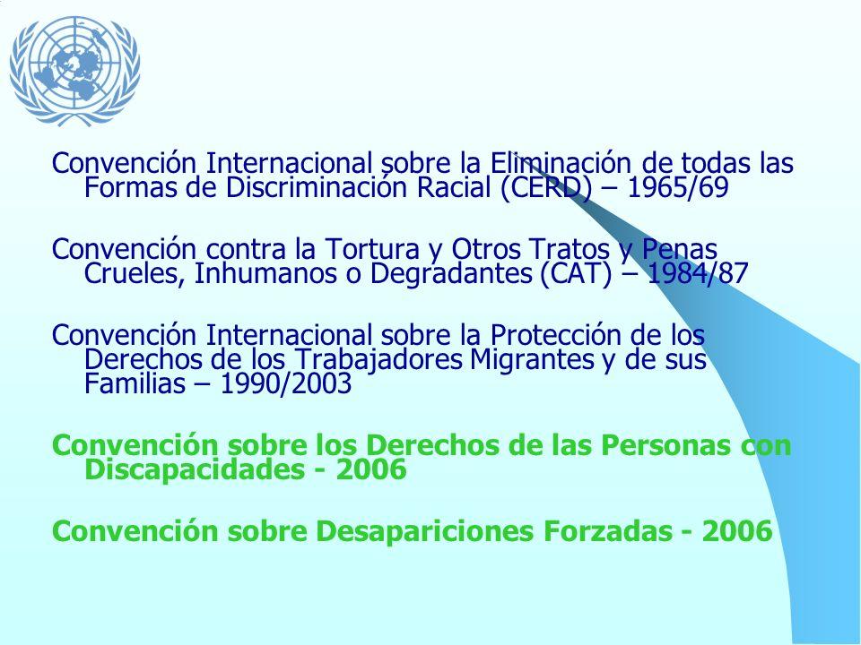 Convención Internacional sobre la Eliminación de todas las Formas de Discriminación Racial (CERD) – 1965/69