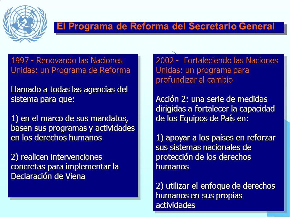 El Programa de Reforma del Secretario General