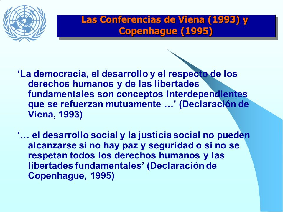 Las Conferencias de Viena (1993) y
