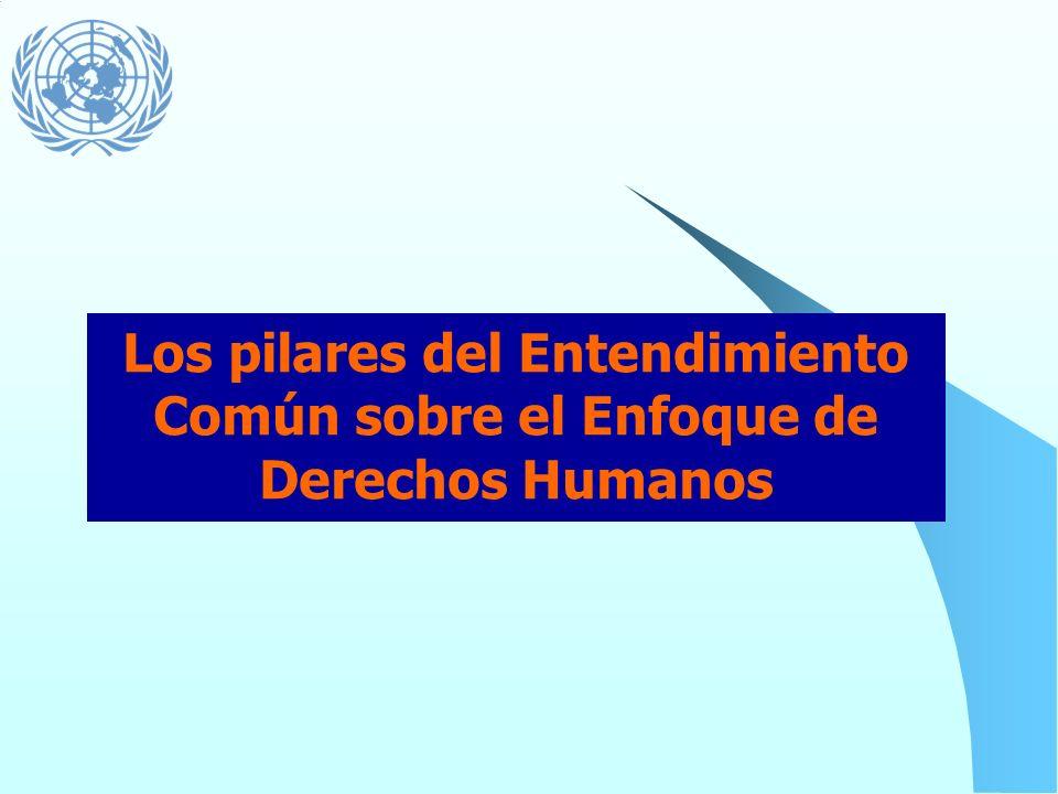 Los pilares del Entendimiento Común sobre el Enfoque de Derechos Humanos
