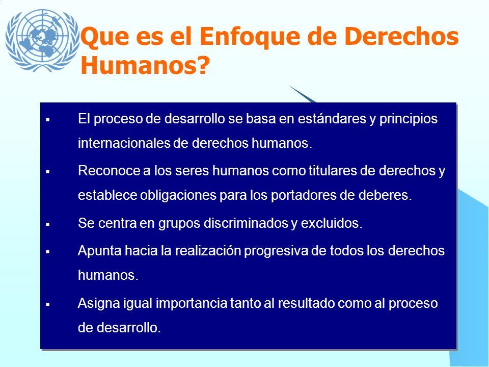 Que es el Enfoque de Derechos Humanos
