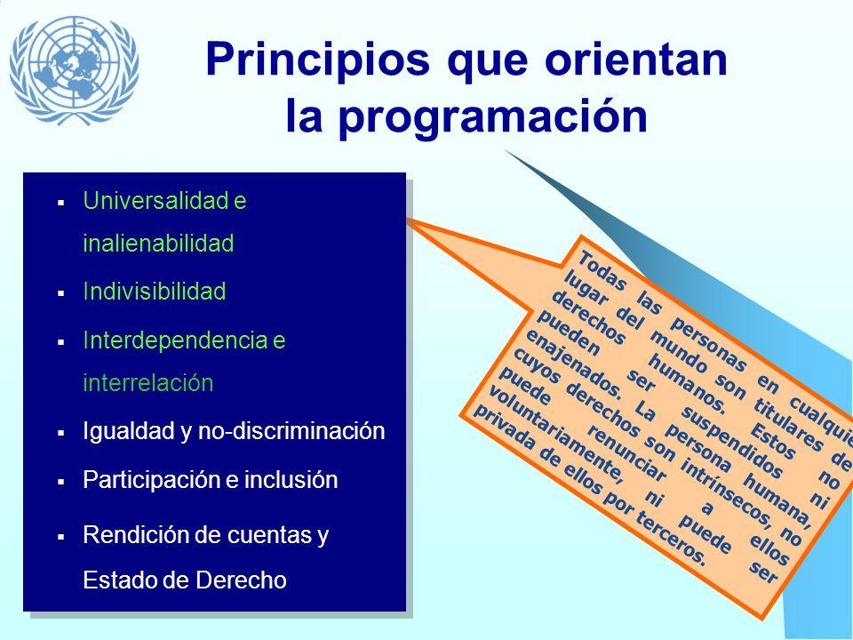 Principios que orientan