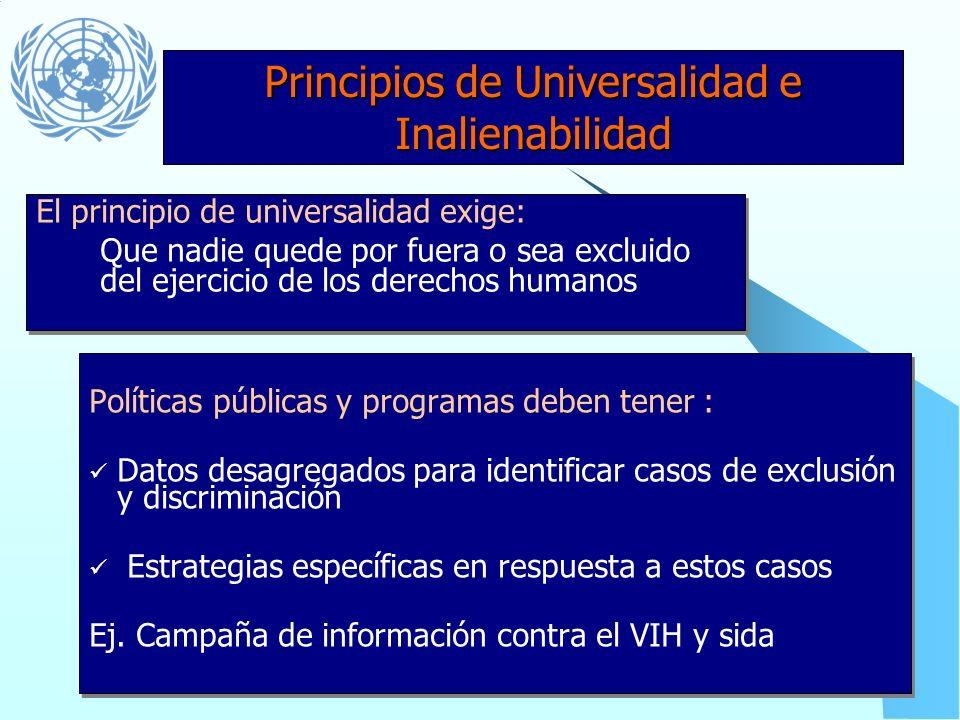 Principios de Universalidad e Inalienabilidad