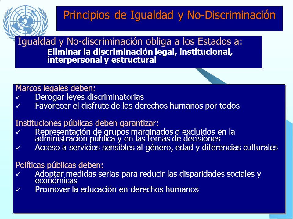 Principios de Igualdad y No-Discriminación