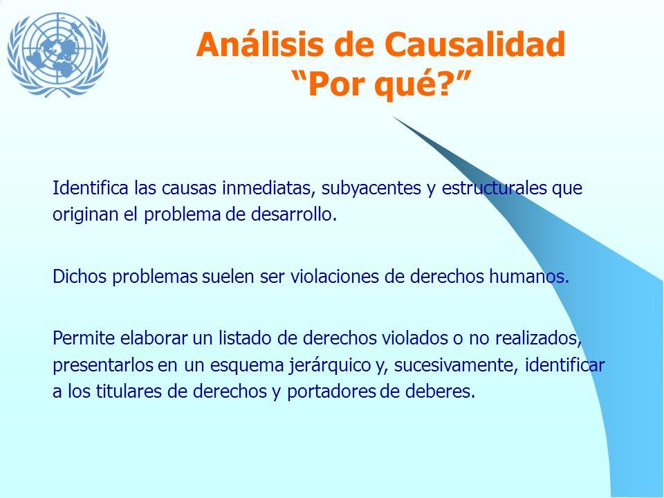 Análisis de Causalidad Por qué