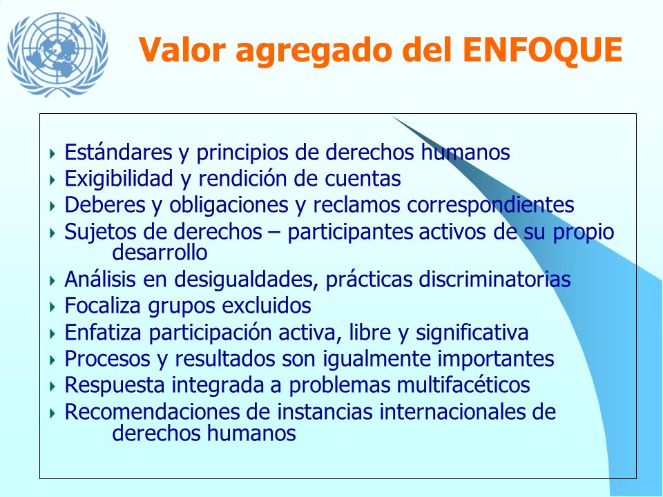 Valor agregado del ENFOQUE