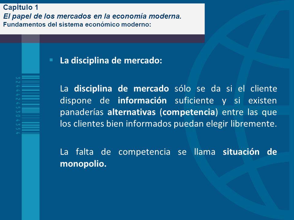 La disciplina de mercado: