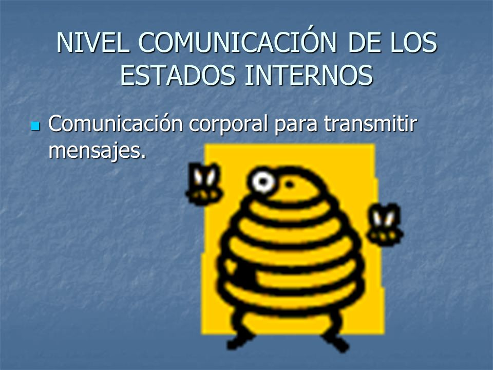 NIVEL COMUNICACIÓN DE LOS ESTADOS INTERNOS