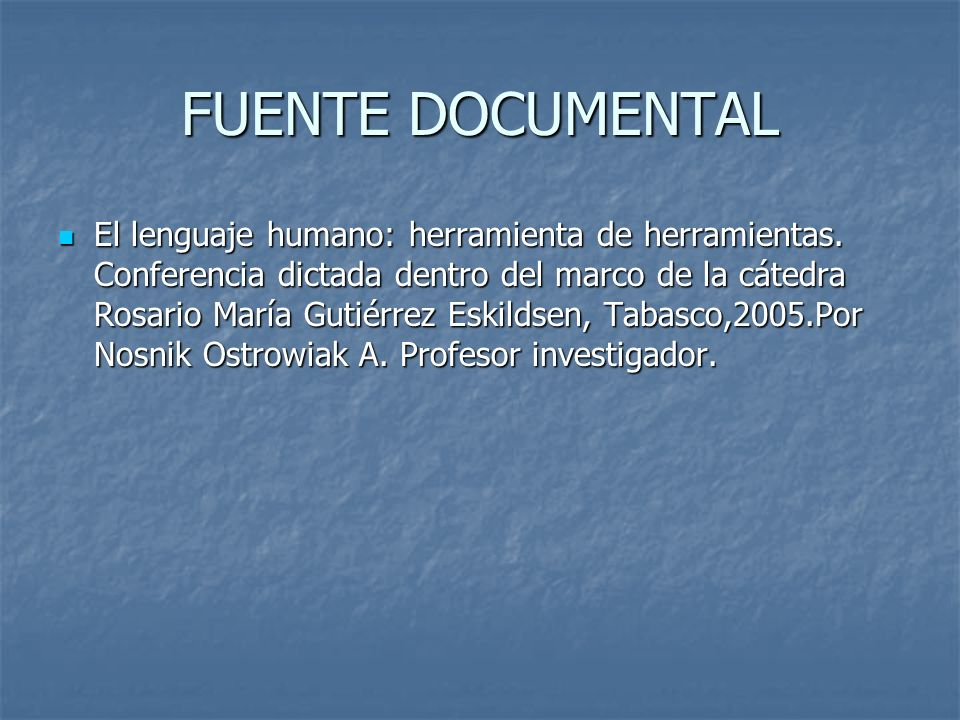 FUENTE DOCUMENTAL