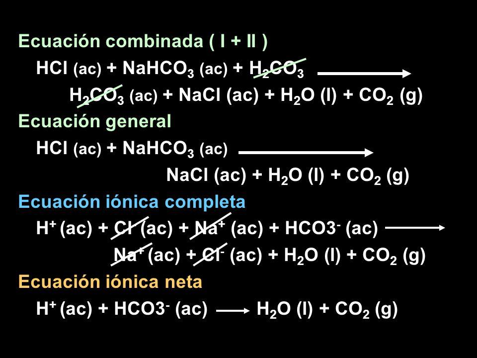 Ecuación combinada ( I + II )