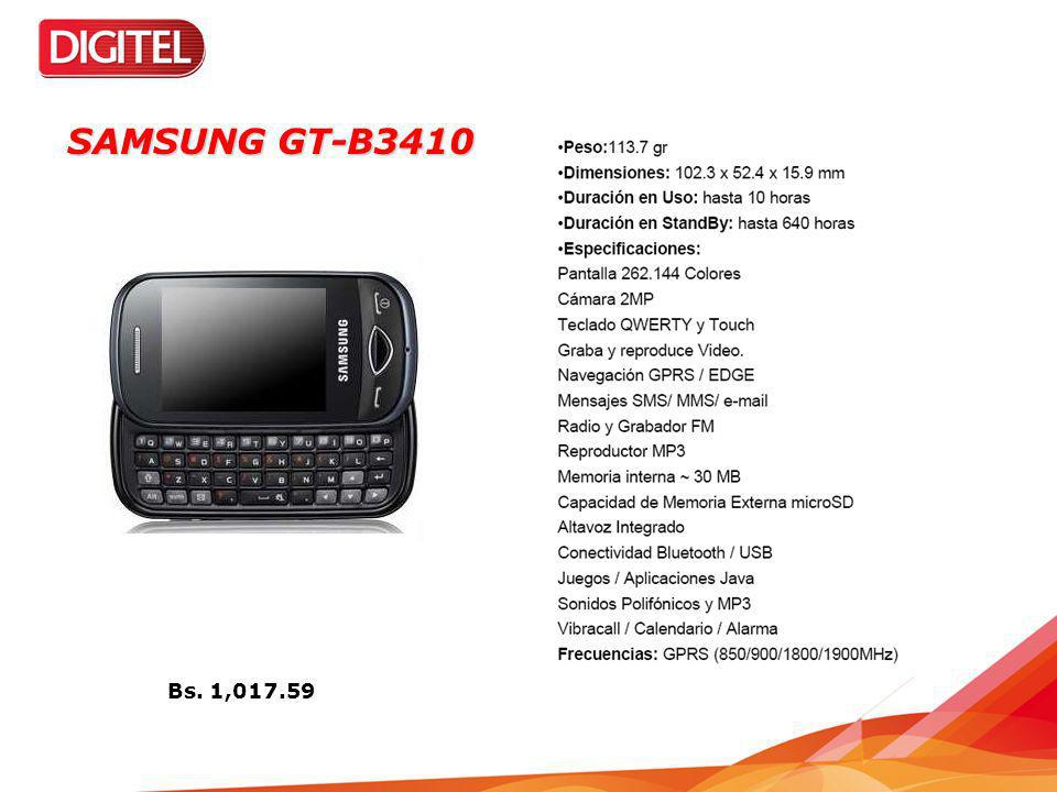 SAMSUNG GT-B3410 Bs. 1,017.59