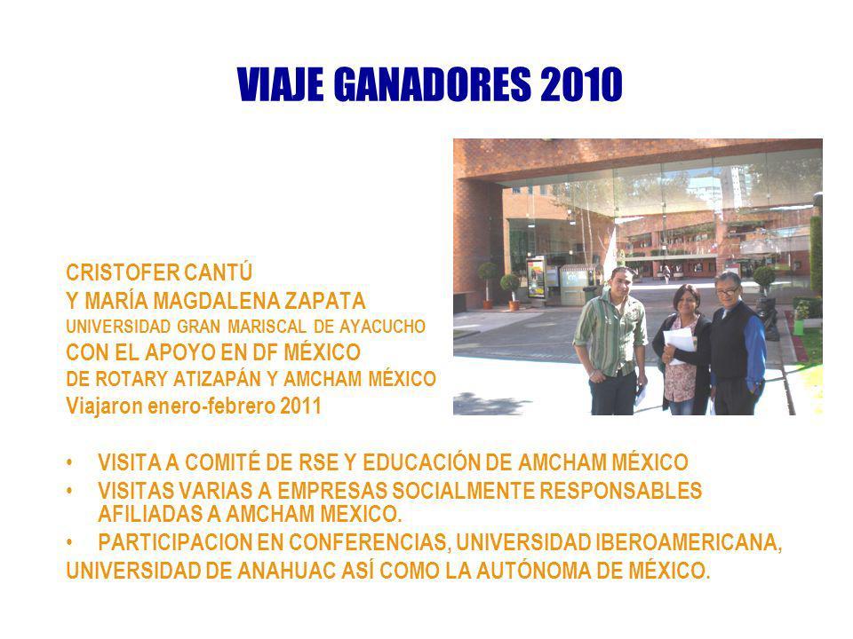 VIAJE GANADORES 2010 CRISTOFER CANTÚ Y MARÍA MAGDALENA ZAPATA