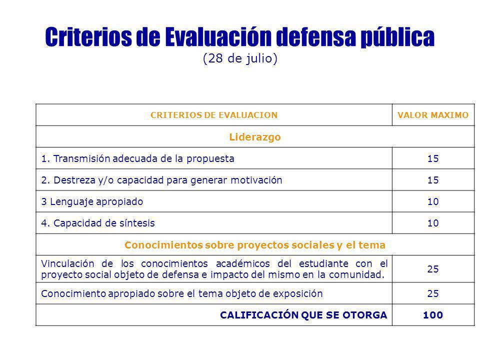 Criterios de Evaluación defensa pública (28 de julio)