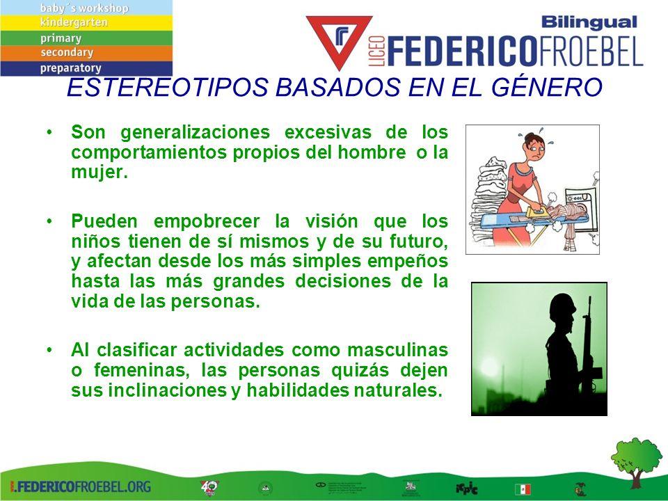 ESTEREOTIPOS BASADOS EN EL GÉNERO