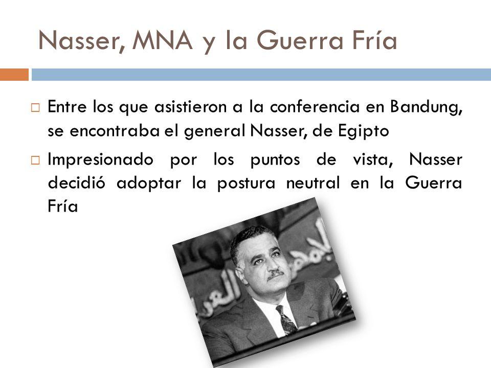Nasser, MNA y la Guerra Fría