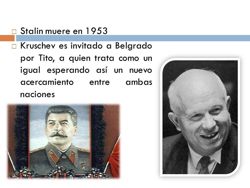 Stalin muere en 1953