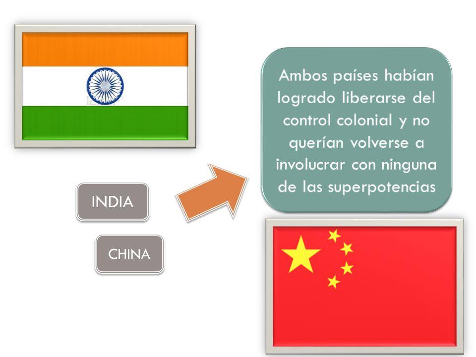 Ambos países habían logrado liberarse del control colonial y no querían volverse a involucrar con ninguna de las superpotencias