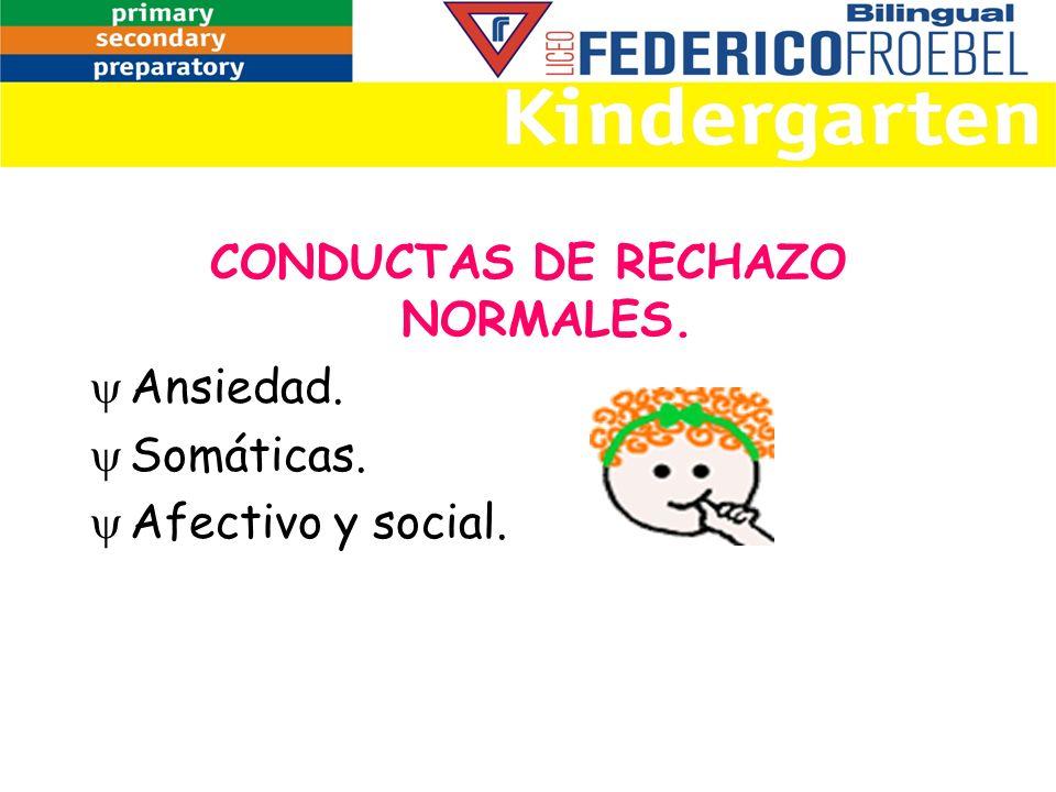 CONDUCTAS DE RECHAZO NORMALES.
