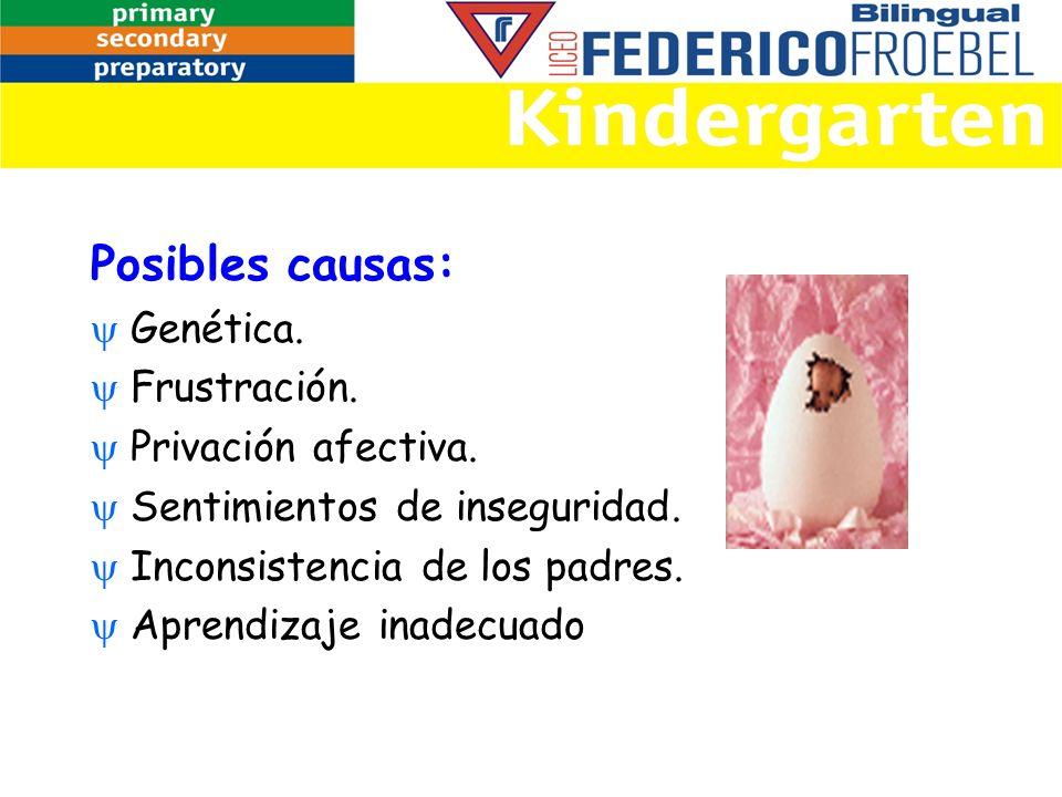 Posibles causas: Genética. Frustración. Privación afectiva.