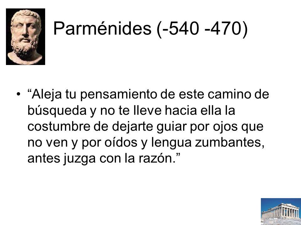Parménides (-540 -470)