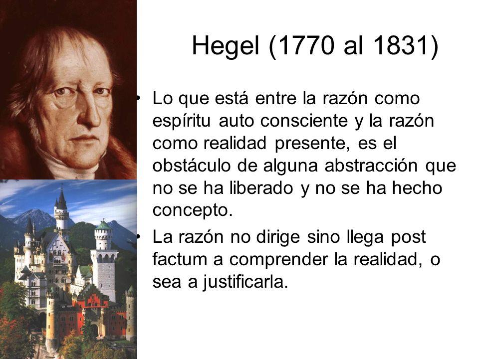 Hegel (1770 al 1831)