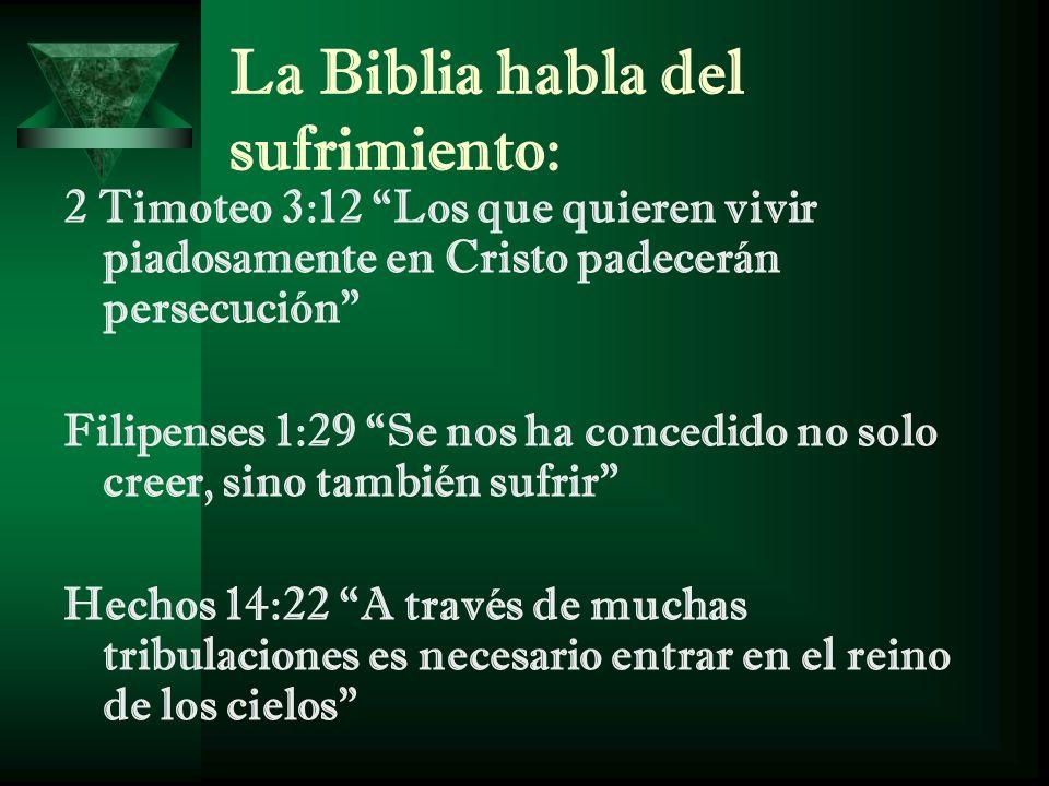 La Biblia habla del sufrimiento: