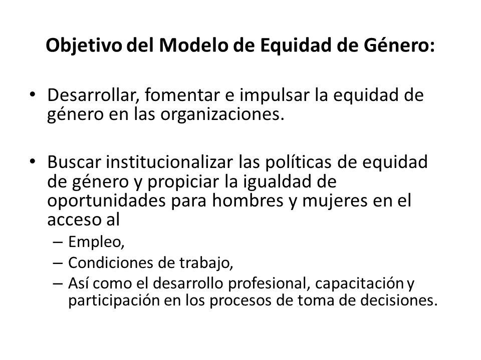 Objetivo del Modelo de Equidad de Género: