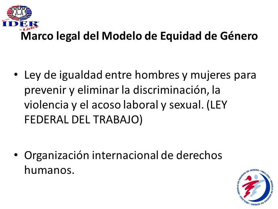 Marco legal del Modelo de Equidad de Género