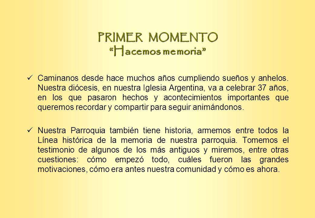 PRIMER MOMENTO Hacemos memoria