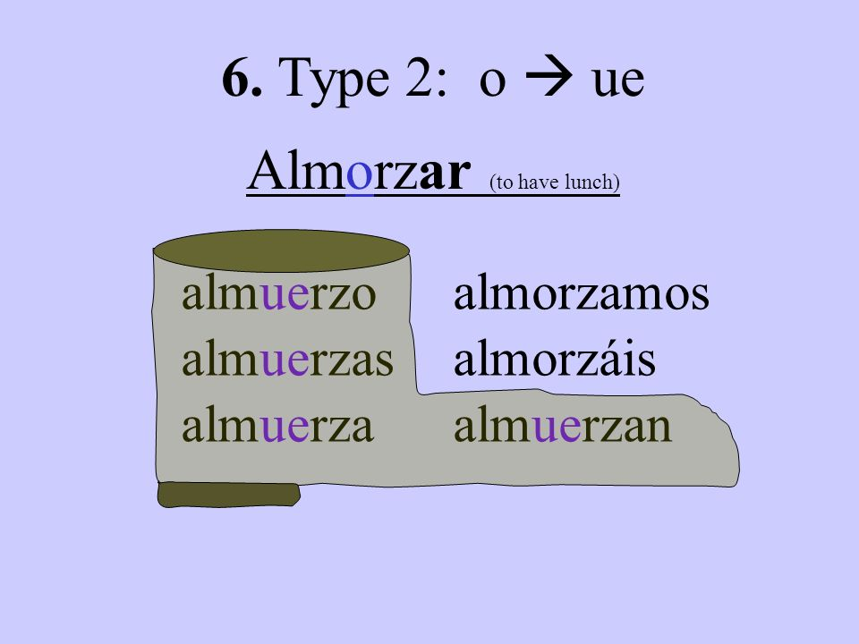 Almorzar (to have lunch)