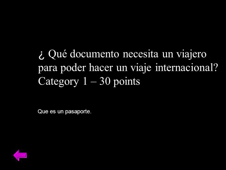 ¿ Qué documento necesita un viajero