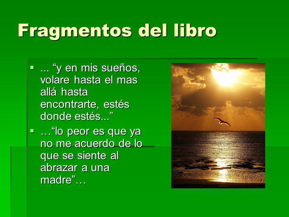 Fragmentos del libro ... y en mis sueños, volare hasta el mas allá hasta encontrarte, estés donde estés...