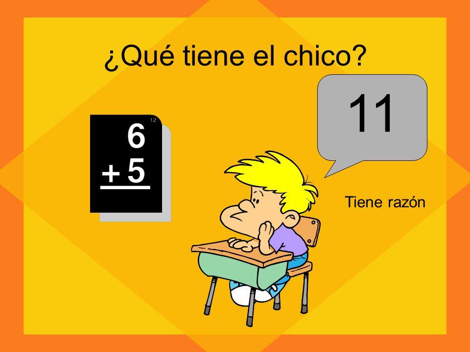 ¿Qué tiene el chico 11 Tiene razón