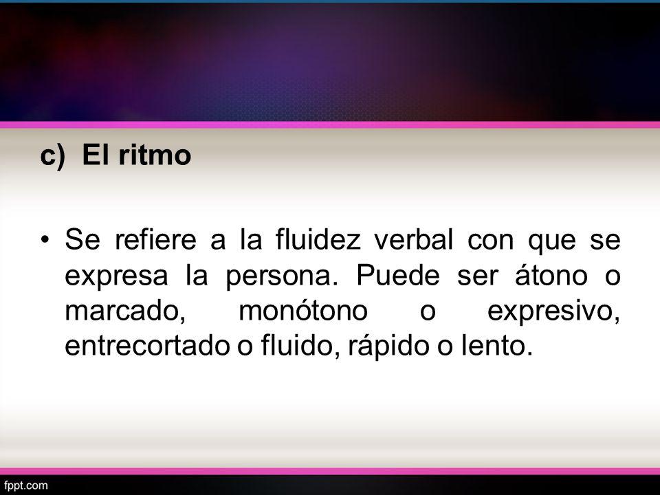 c) El ritmo