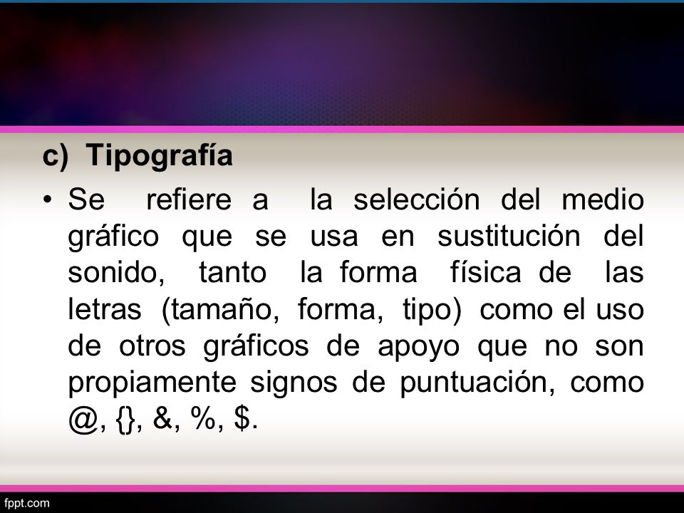 c) Tipografía