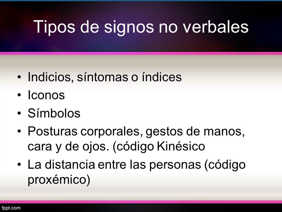 Tipos de signos no verbales