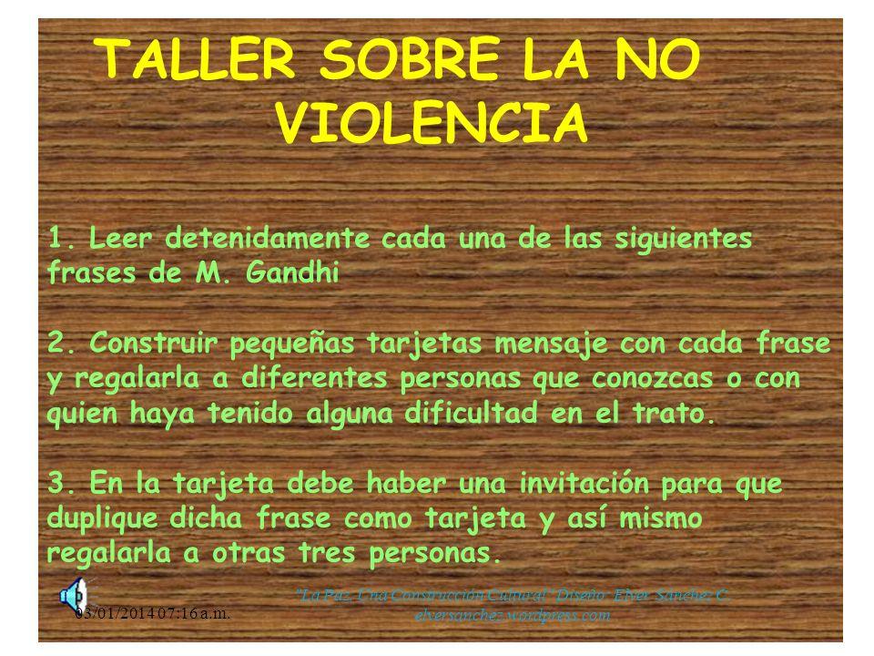 TALLER SOBRE LA NO. VIOLENCIA 1