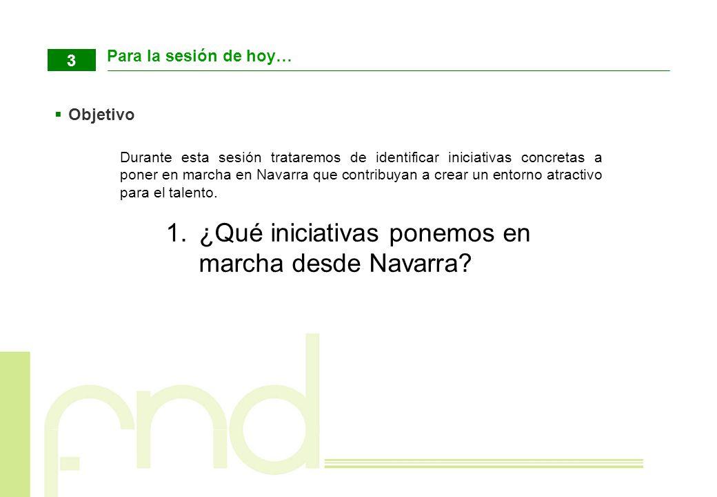 ¿Qué iniciativas ponemos en marcha desde Navarra