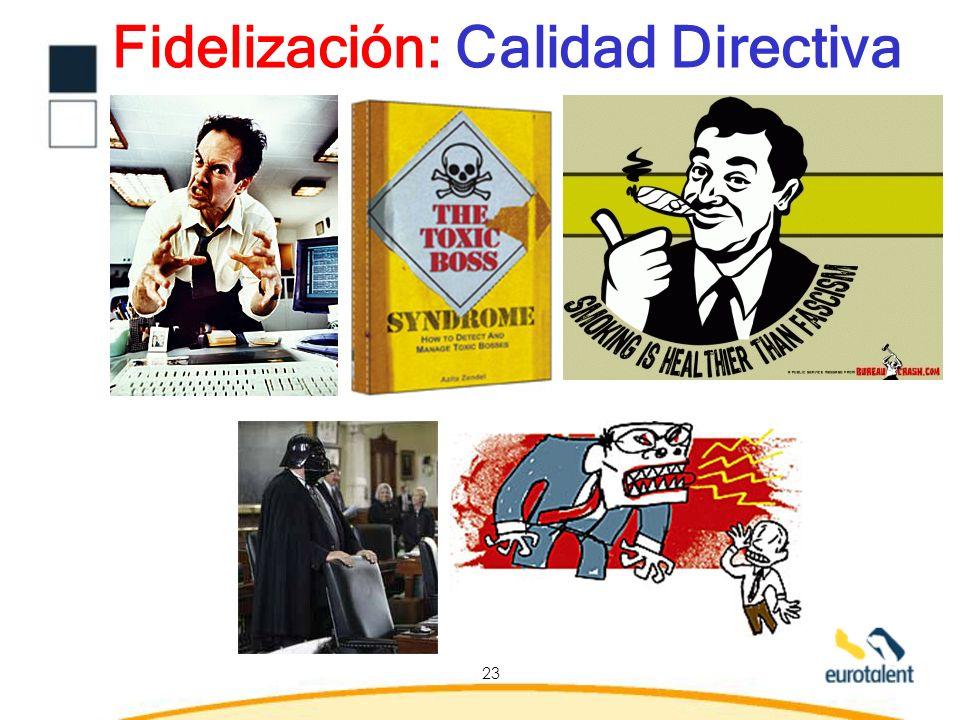 Fidelización: Calidad Directiva