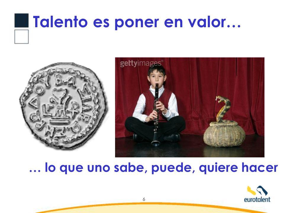 Talento es poner en valor…