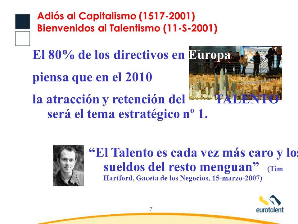 Adiós al Capitalismo (1517-2001) Bienvenidos al Talentismo (11-S-2001)