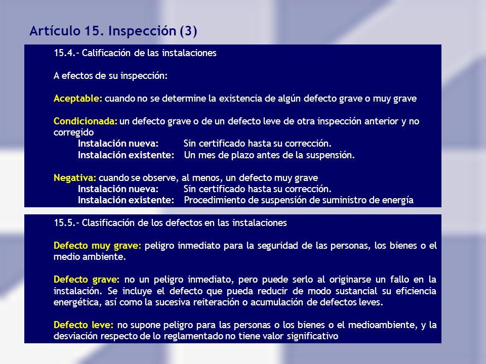 Artículo 15. Inspección (3)